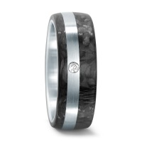 Partnerring Edelstahl, Carbon Diamant 0.02 ct-546076