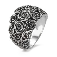 Fingerring Silber patiniert Rose-583963