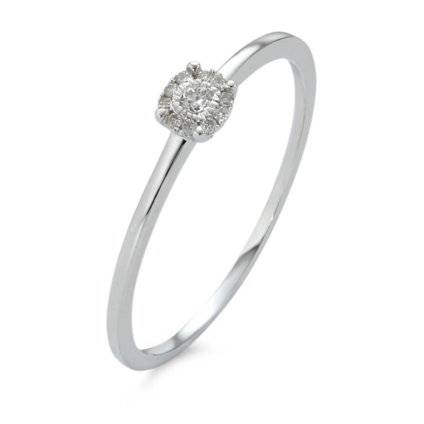 Rhomberg Schmuck: Ring 750 Weissgold Diamanten