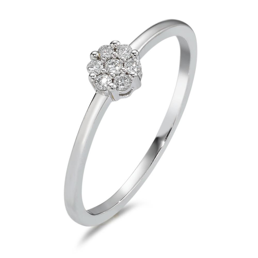 Rhomberg Schmuck: Solitär Ring 75018 K Weissgold Diamant